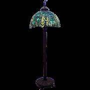 SALE 7523 Antique Tiffany Laburnum Floor Lamp