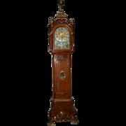 SALE 7646 Dutch Long Case Clock Stamped AJ Van Bergh A. Rotterdam