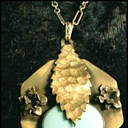 Art Nouveau Necklace With Turquoise Stone