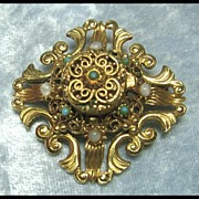 Florenza Pin Brooch with Secret Compartment