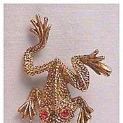 Frolicking Frog Pin
