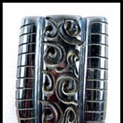 Awesome Carved Black Bakelite Dress Clip