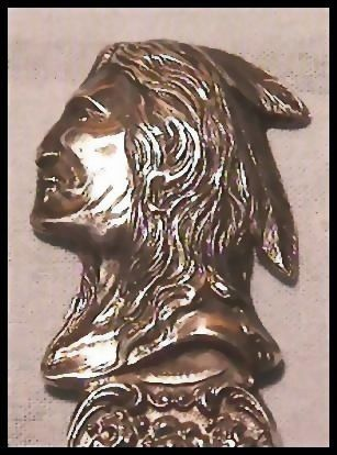 AMERICAN INDIAN Sterling Souvenir Spoon with  Bust Native American