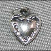 Petite Repousse Puffy Heart Charm