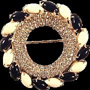 Hattie Carnegie Pin / Bold Beautiful Brooch****