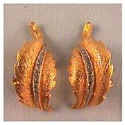 Carnegie Gold-tone and Rhinestone Clip Earrings
