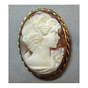 Beautifully Detailed Shell Cameo Gold Filled Bezel