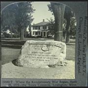 View of the Town Common, Lexington, Massachusetts