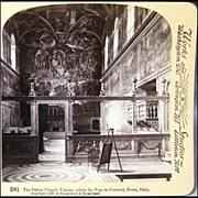 Stereo View of Sistine Chapel in the Vatican by Underwood & Underwood