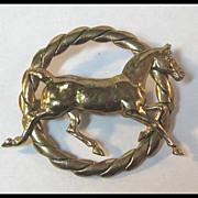 Gold-tone Horse Pin Equestrian