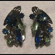 SALE Juliana Silver-tone Clip Earrings with Margarita Stones