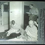 Keystone Stereo View of The Mahatma Mohandas Karamchand Gandhi