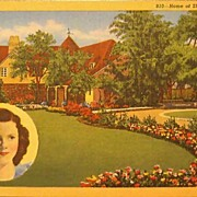 SOLD Home of Shirley Temple Post Card