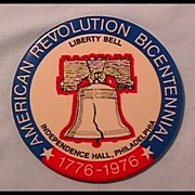 Bicentennial Button with Liberty Bell