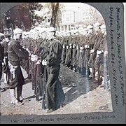 "Keystone Stereo View ""Parade Rest"" -- Naval Training Station"