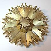 Trifari Large Starburst Pin