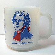 Glasbake Mug with Three Famous Americans