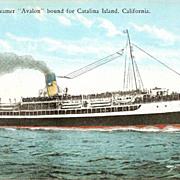 Steamer Avalon Bound for Catalina Island Postcard