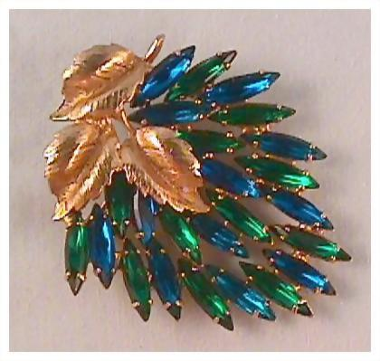 Simply Stunning Blue and Green JULIANA Pin