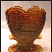 Degenhart Glass Sweetheart Toothpick in Toffee Slag Color