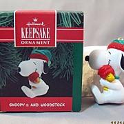 Snoopy and Woodstock Hallmark Keepsake Ornament 1990