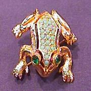 Exceptional DeNicola Frog Pin