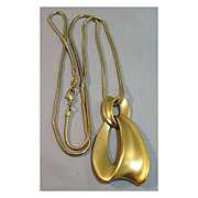 Napier Necklace with Drop and Ultra Long Snake Chain