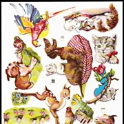 Vintage Die Cuts of Animals