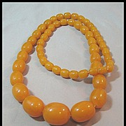 SOLD Gorgeous Butterscotch Beads Bakelite Necklace