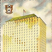 Postcard of the Robert Driscoll Hotel in Corpus Christi Texas