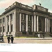 Carnegie Library in Dallas Texas Tuck Postcard - Undivided Back