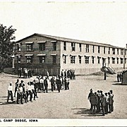 Postcard of New Arrivals at Camp Dodge Iowa