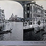 Keystone Stereo View of the Grand Canal Venice Italy