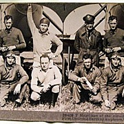 Keystone Stereo View of American Aviators Who First Encircled Earth by Airplane