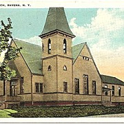 Postcard of Christian Church Ravena New York