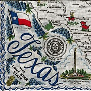 SOLD Texas State Hankie Handkerchief - The Lone Star State