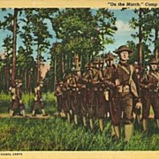 Postcard of World War I Soldiers at  Camp Maxey, Texas