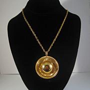 """FAbulous Gold-tone Mod """"Hat"""" Necklace"""