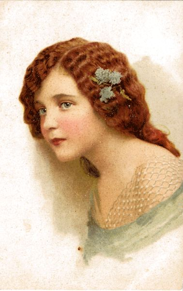 Portrait Postcard of Lovely Young Woman