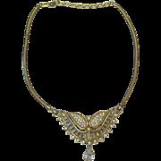 Kramer Winged Rhinestone Necklace
