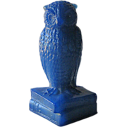 Degenhart Antique Blue Owl Figurine