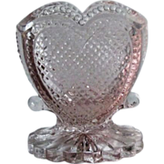 Degenhart Heart Toothpick Holder Light Pink Color Signed