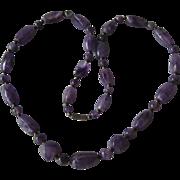 Purple Agate Necklace