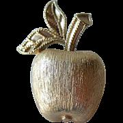 Gold-tone Apple Pin
