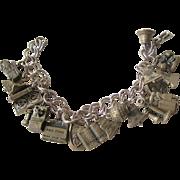 Fantastic Bell Telephone Sterling Charm Bracelet