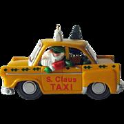 S Claus Taxi Hallmark Ornament / Collectible Ornament