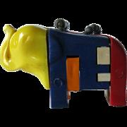 Elephant Key ring Puzzle / Vintage Key ring Puzzle / Vintage Elephant / Collectible Keyring Pu