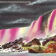 Postcard of Rock of Ages and American Falls by Night -  Niagara Falls