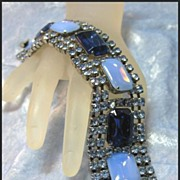 Magnificent Blue Rhinestone Bracelet
