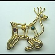 Reindeer Pin Christmas Holiday Pin